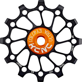 KCNC Jockey Wheel roulement SS Narrow Wide Long Teeth 12 dents, black